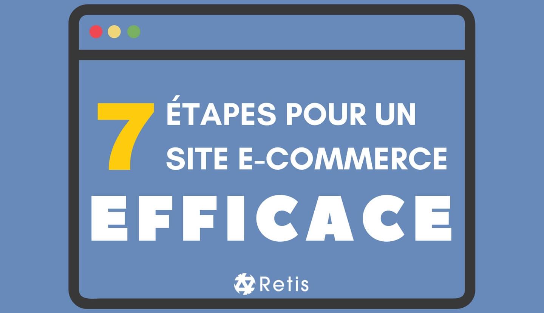 Les 7 étapes pour un site e-commerce efficace