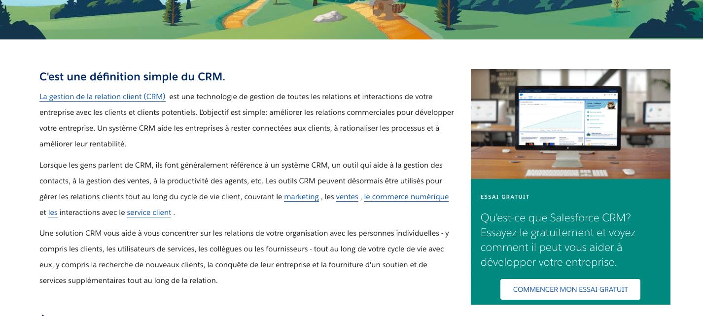 Capture d'écran d'un article Salesforce