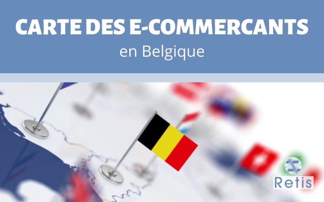 Carte des ecommerçants en Belgique