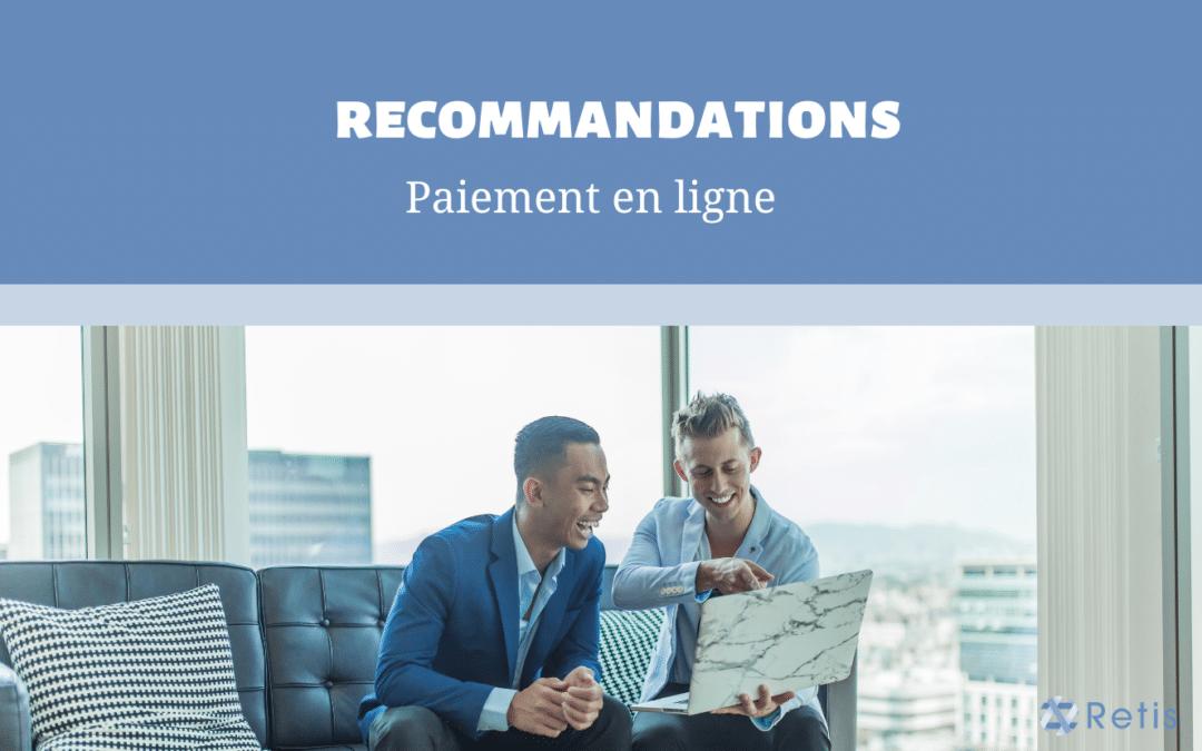 Recommandations – Paiement en ligne
