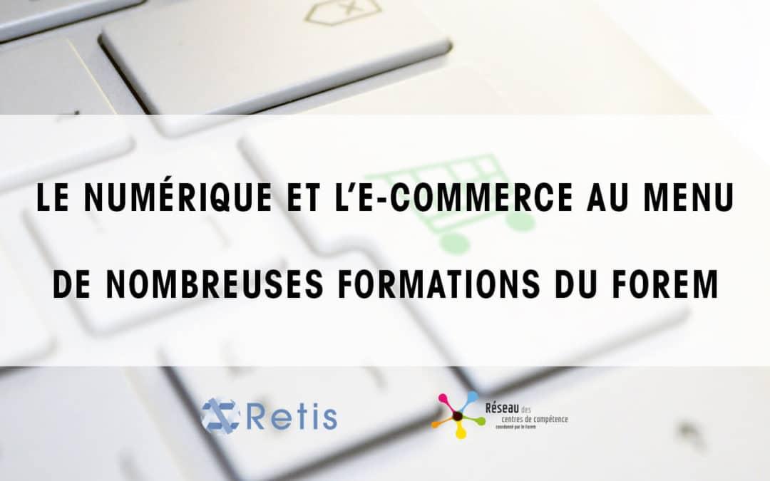 Le Numérique et l'E-commerce au menu des formations du Forem