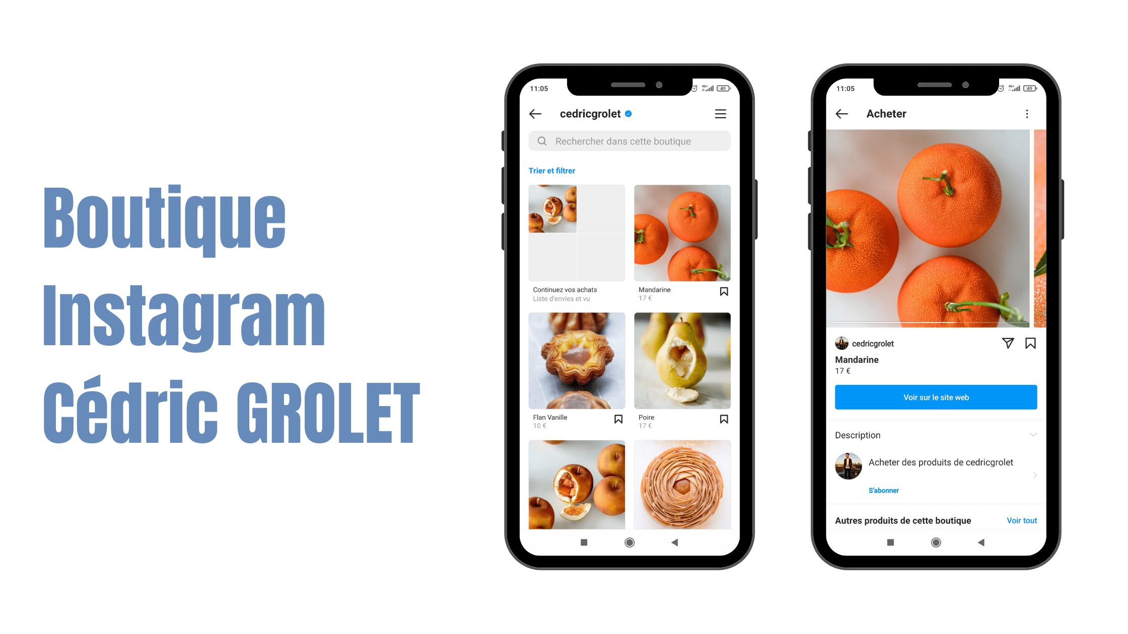 Cedric Grolet Patissier Exemple de boutique Instagram